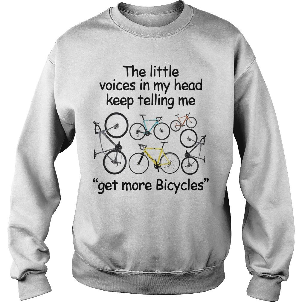 The Little Voices In My Head Keep Telling Me Get More Bicycles Sweater