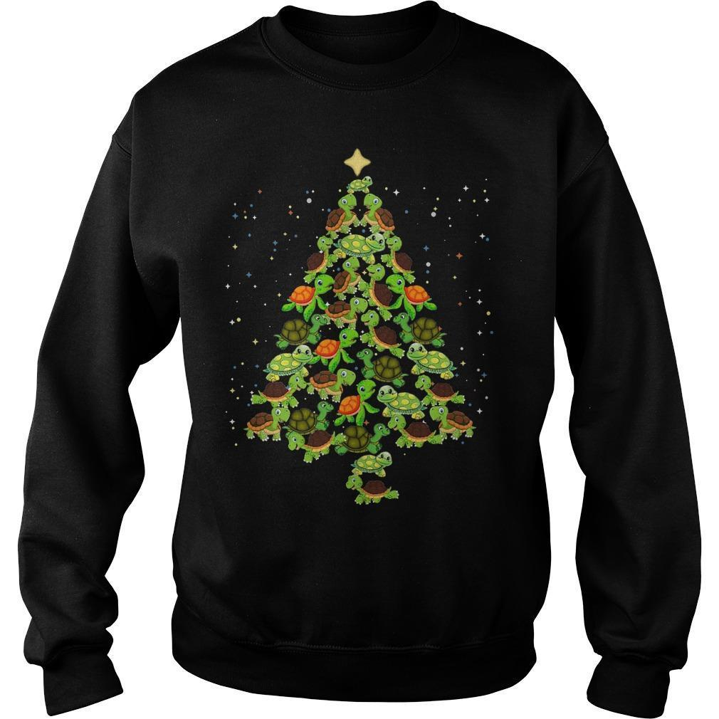 Turtle Christmas Tree Sweater