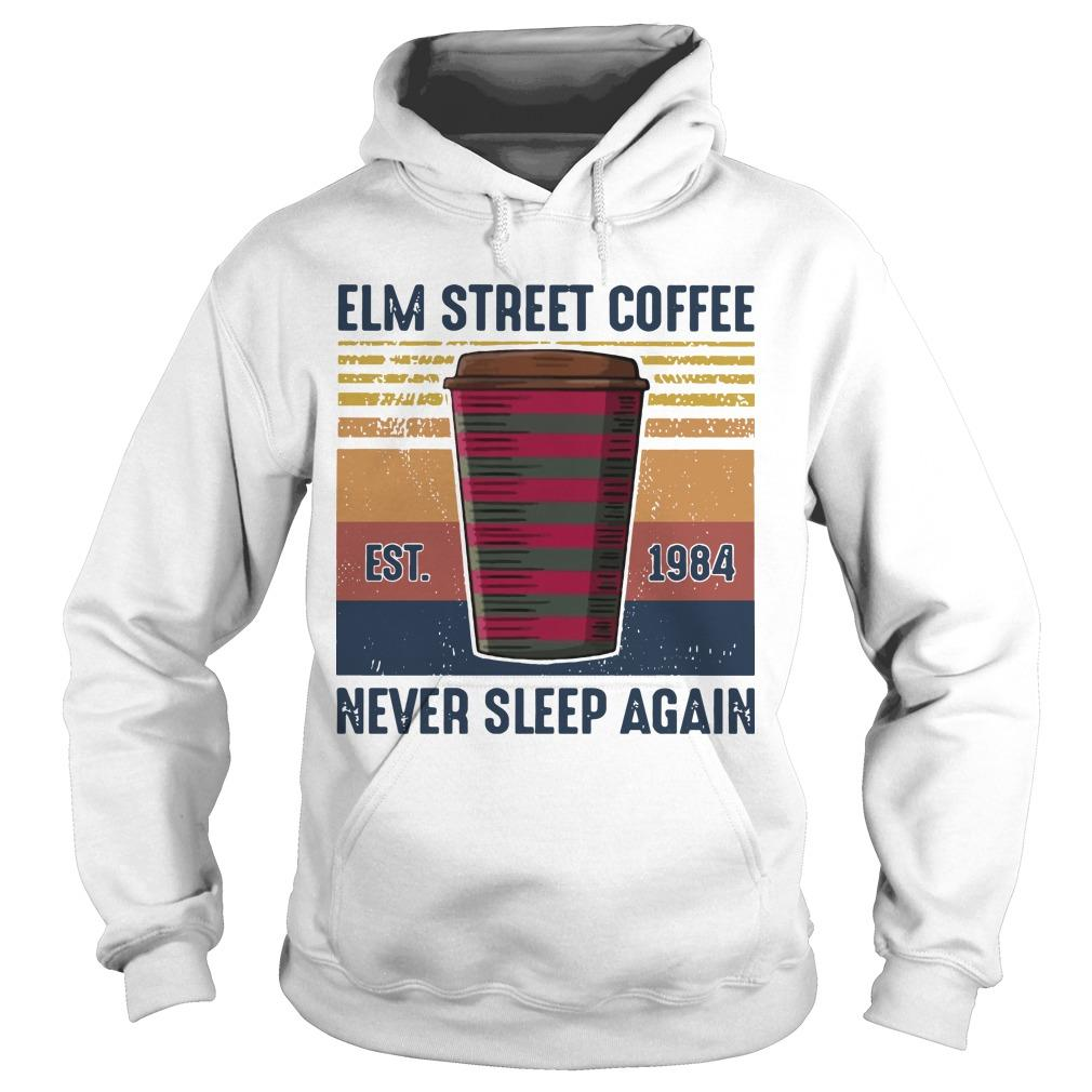 Vintage Elm Street Coffee Never Sleep Again Hoodie