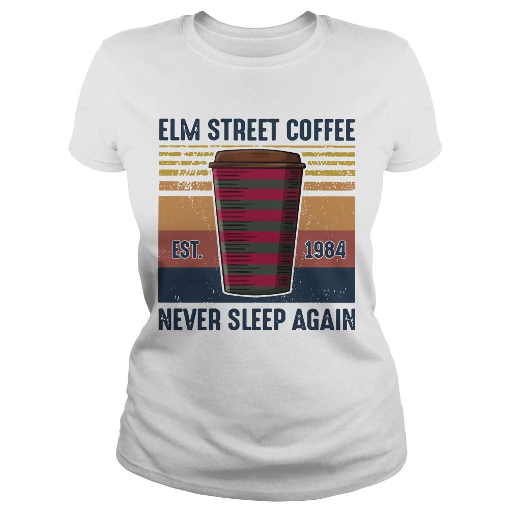 Vintage Elm Street Coffee Never Sleep Again Longsleeve
