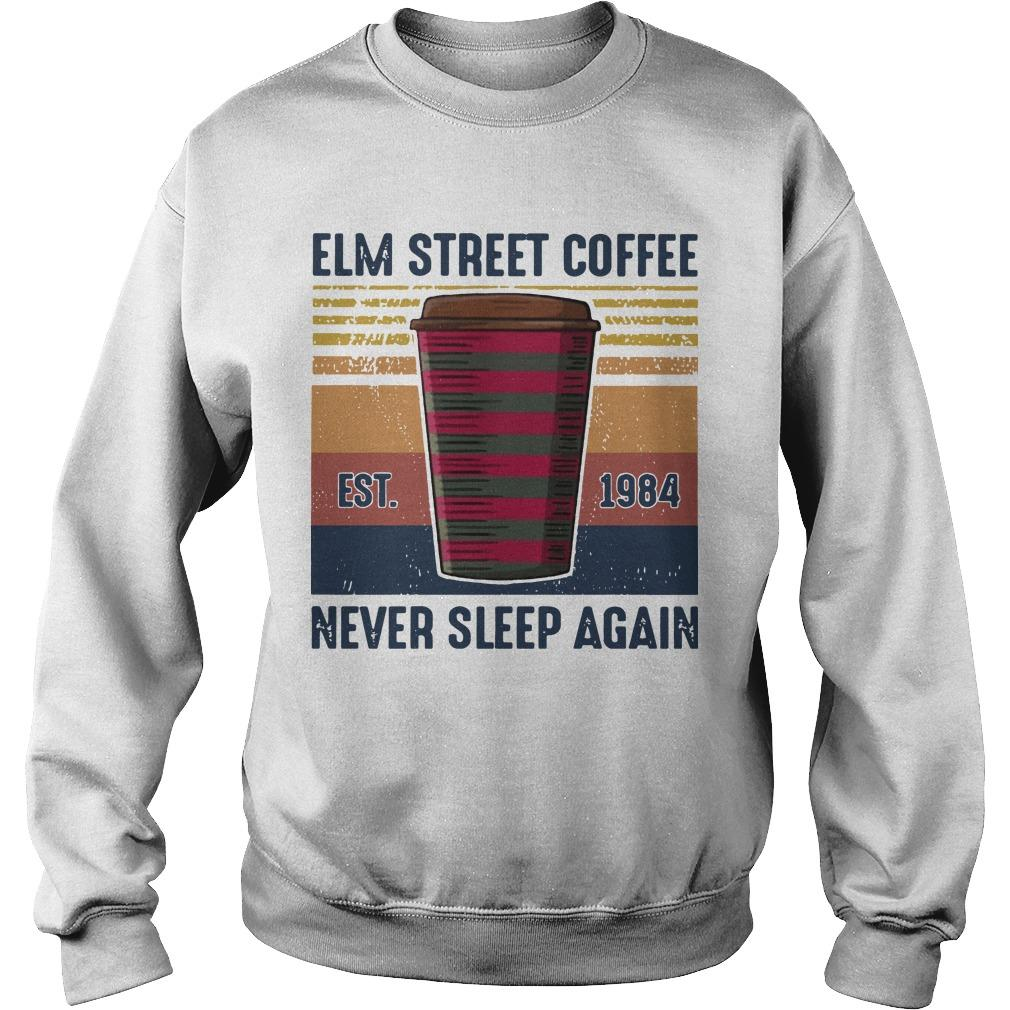 Vintage Elm Street Coffee Never Sleep Again Sweater