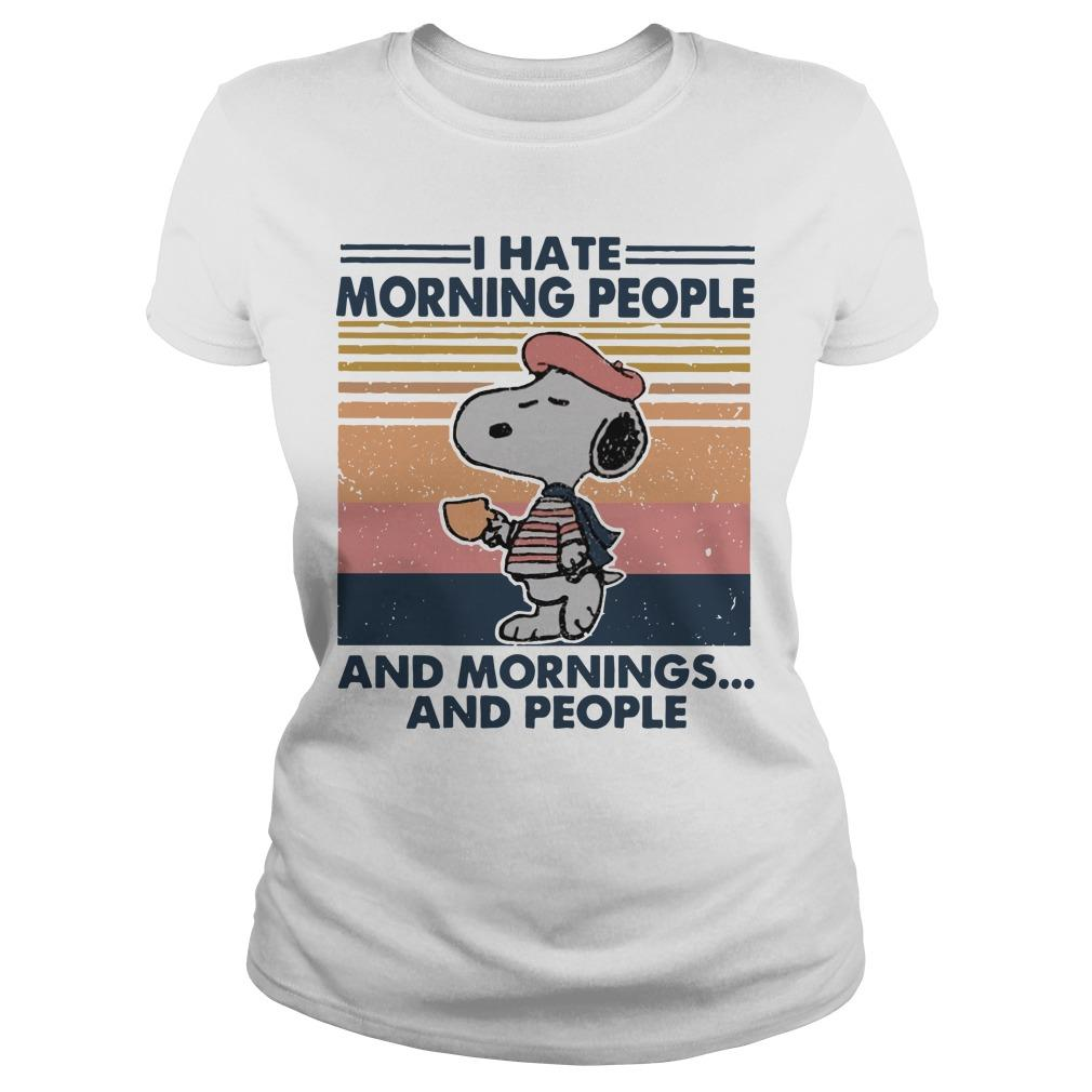 Vintage Snoopy I Hate Morning People And Mornings And People Longsleeve