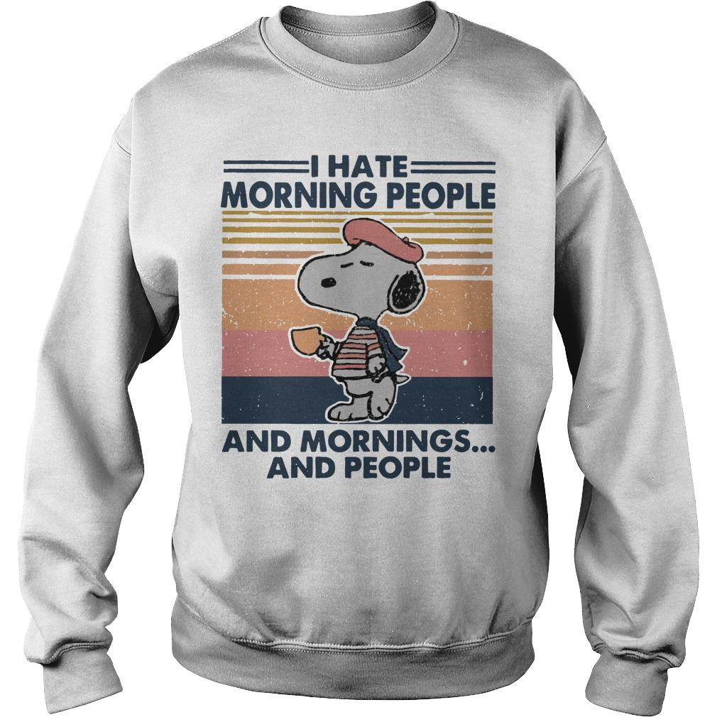 Vintage Snoopy I Hate Morning People And Mornings And People Sweater