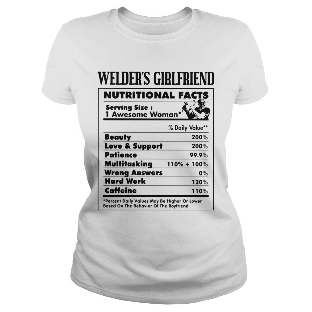 Welder's Girlfriend Nutritional Facts 1 Awesome Woman Longsleeve