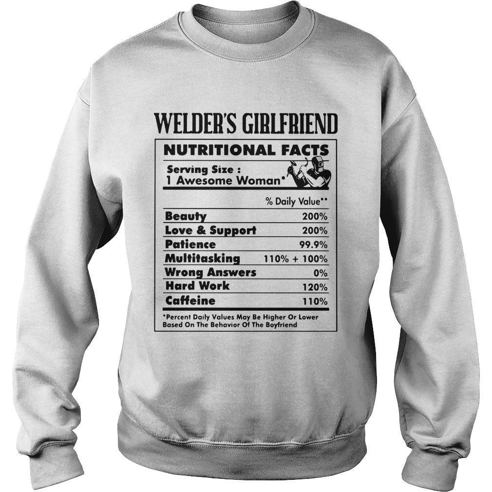 Welder's Girlfriend Nutritional Facts 1 Awesome Woman Sweater