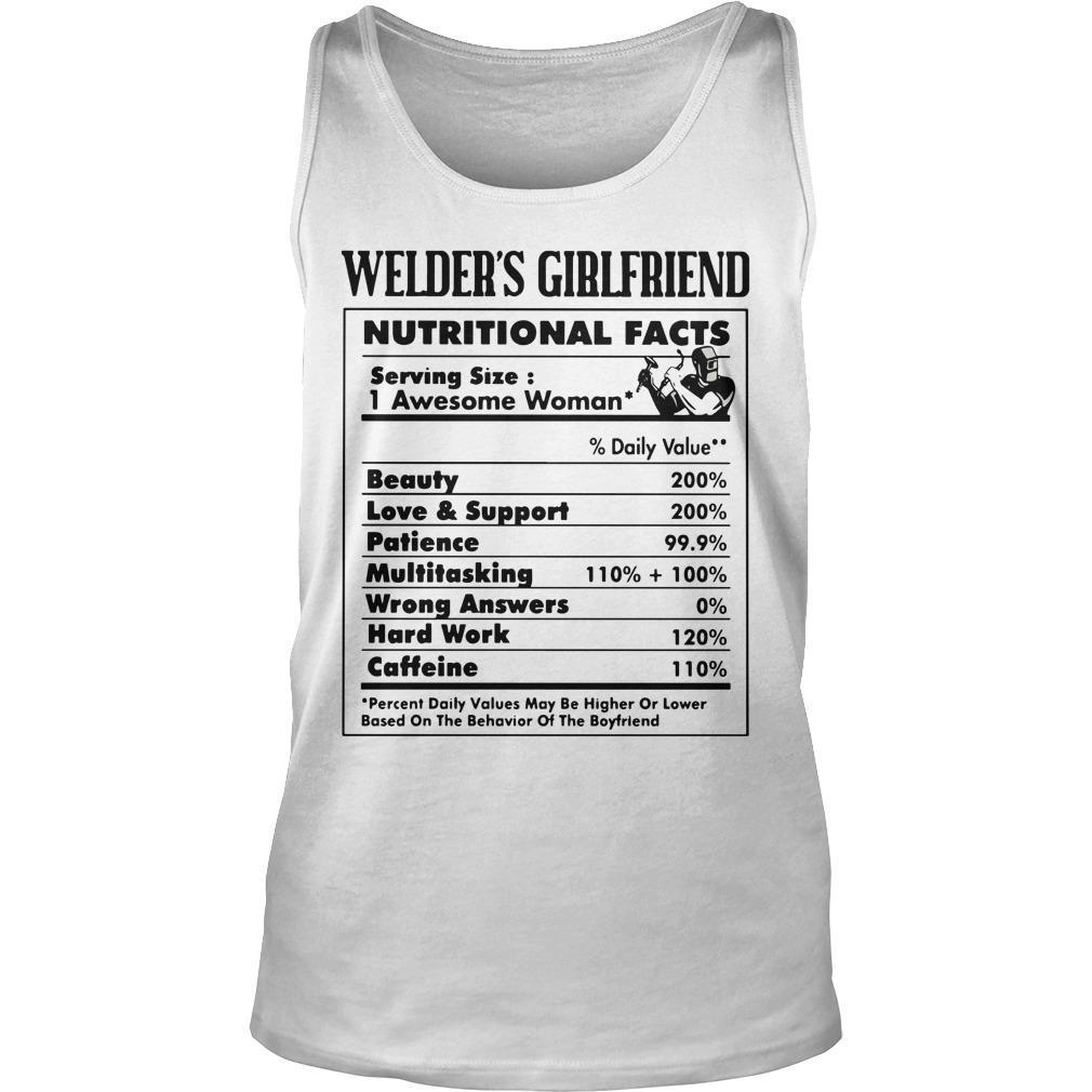 Welder's Girlfriend Nutritional Facts 1 Awesome Woman Tank Top