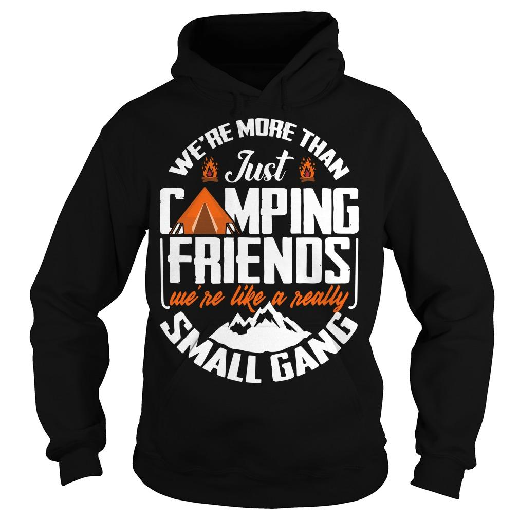 We're More Than Just Camping Friends We're Like A Really Small Gang Hoodie
