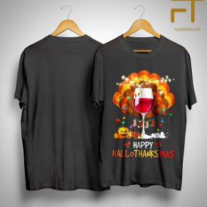 Wine Happy Hallothanksmas Shirt