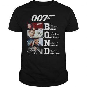007 Pierce Brosnan Roger Moore Sean Connery Daniel Craig Shirt