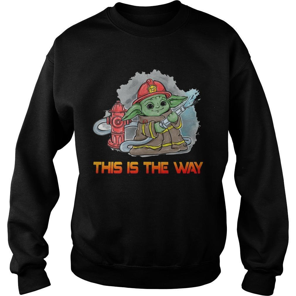 Baby Yoda Firefighter This Is The Way Sweater