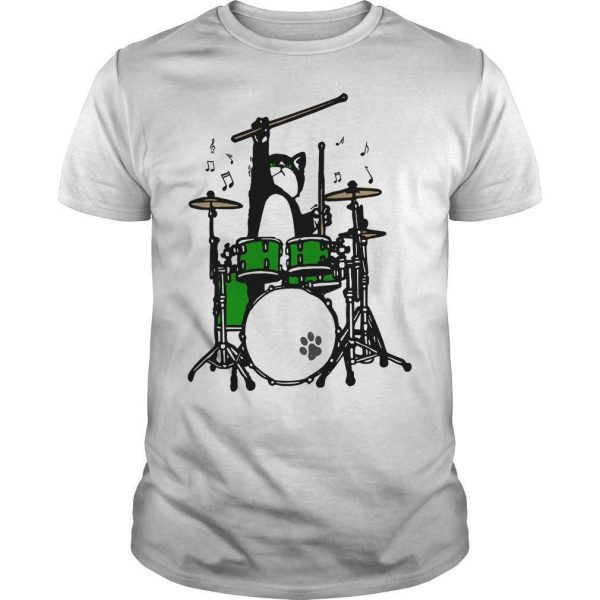 Cat Playing Drums Shirt