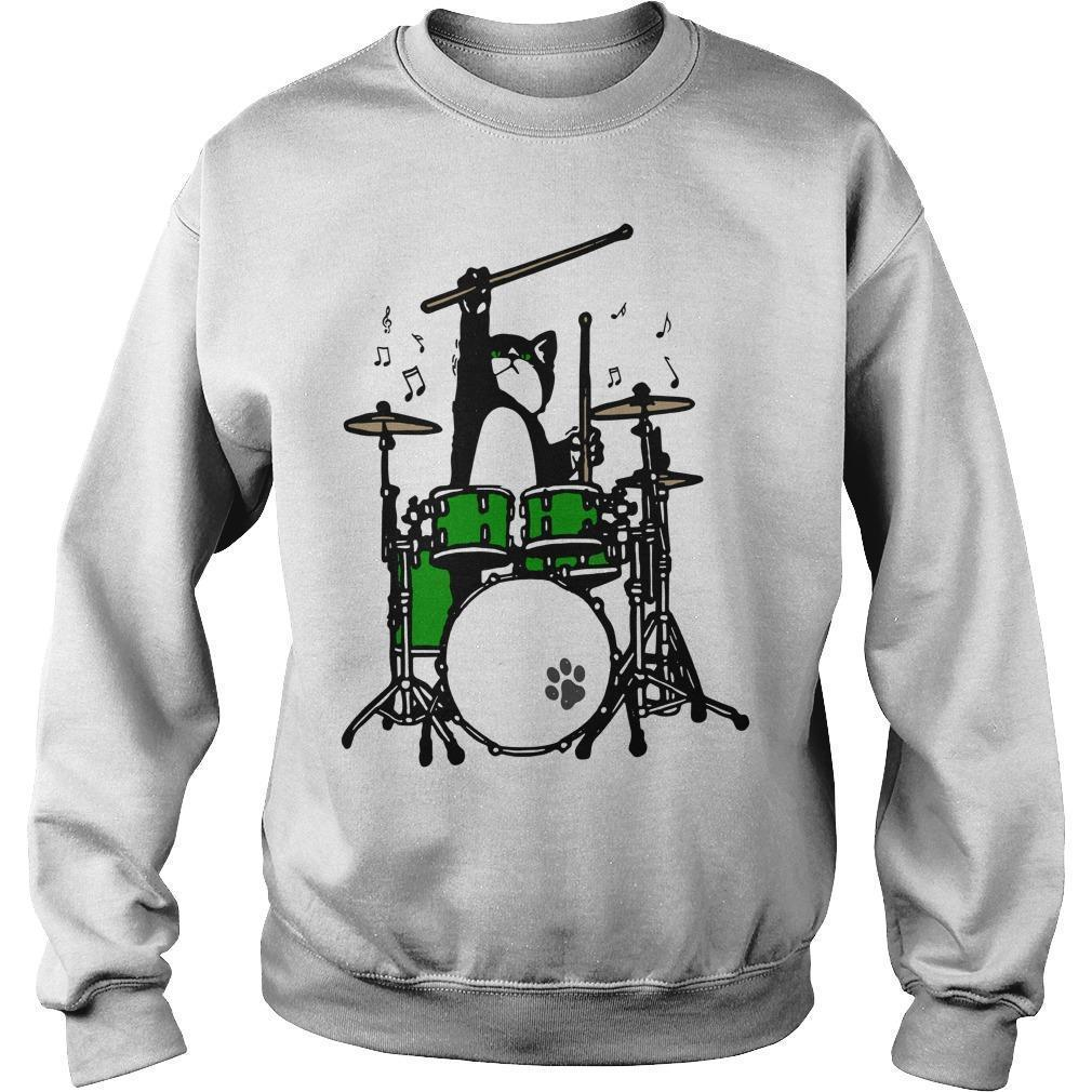 Cat Playing Drums Sweater
