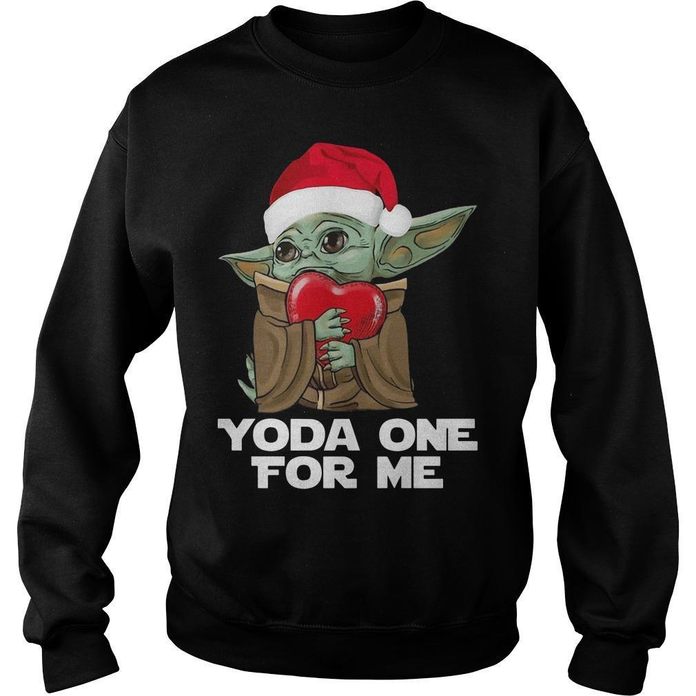 Christmas Baby Yoda One For Me Sweater