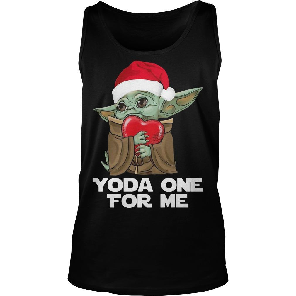 Christmas Baby Yoda One For Me Tank Top