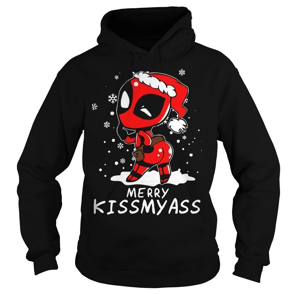 Christmas Deadpool Merry Kissmyass Hoodie