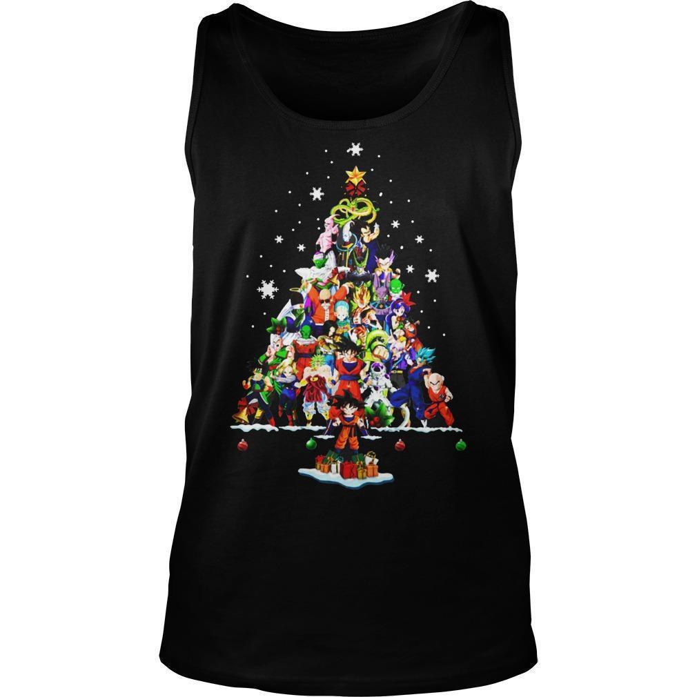 Dragon Ball Christmas Tree Tank Top