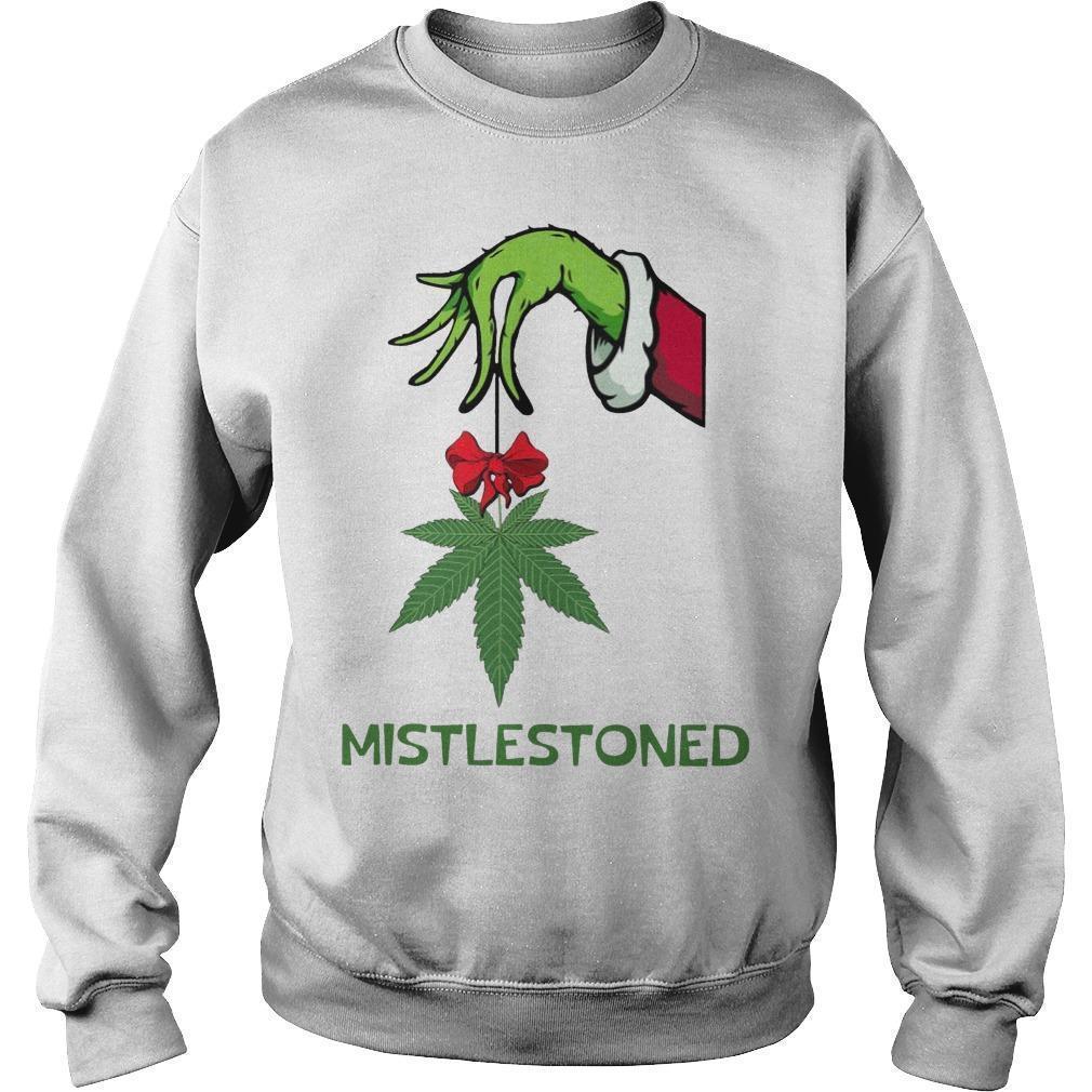 Grinch Weed Mistlestoned Sweater