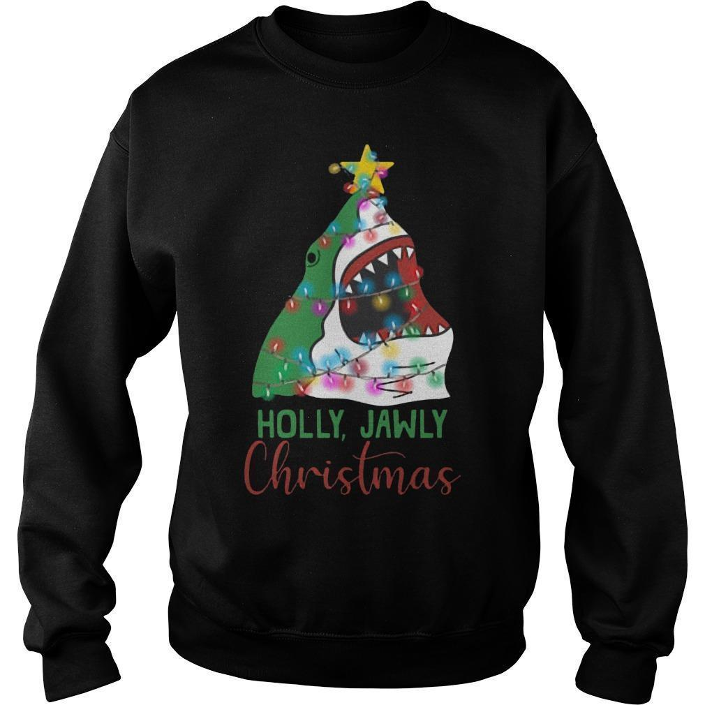 Shark Holly Jawly Christmas Sweater