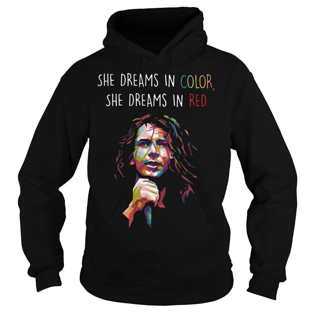 She Dreams In Color She Dreams In Red Hoodie