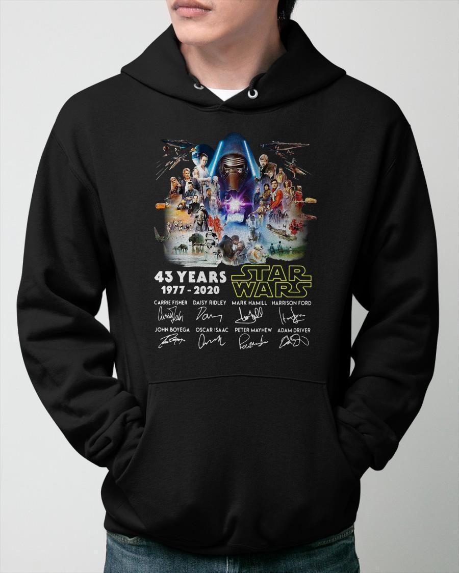 43 Years Star Wars 1977 2020 Signatures Hoodie
