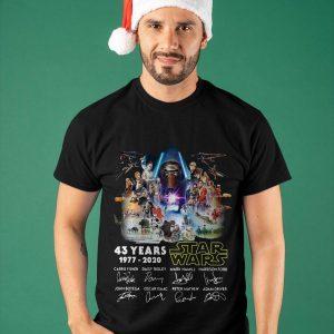 43 Years Star Wars 1977 2020 Signatures Shirt