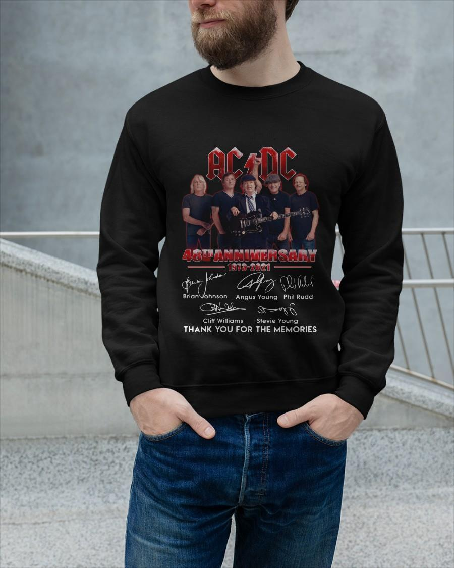Ac Dc 48th Anniversary Thank You For The Memories Longsleeve