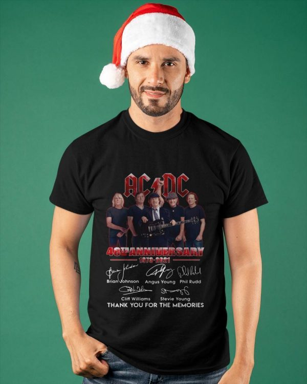 Ac Dc 48th Anniversary Thank You For The Memories Shirt