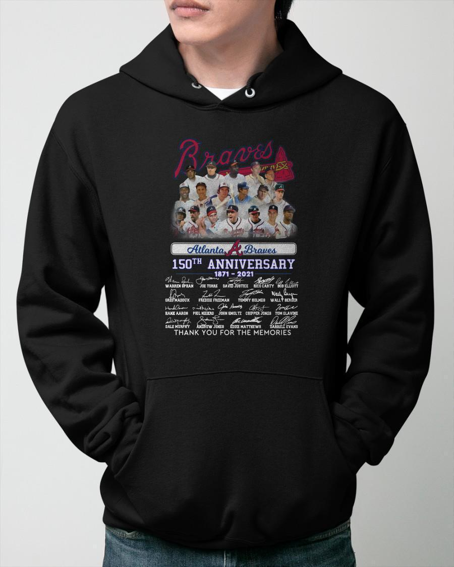 Atlanta Braves 150th Anniversary Thank You For The Memories Hoodie
