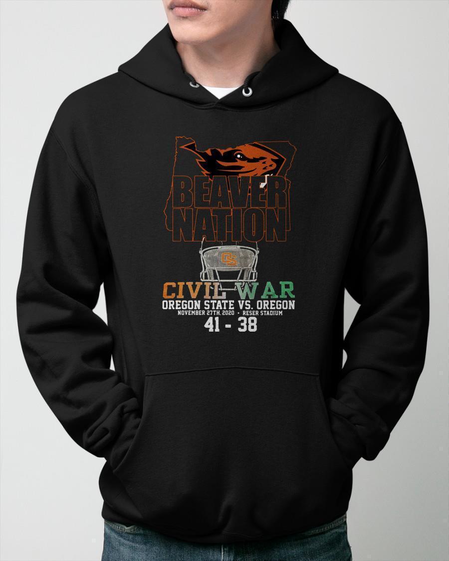Beaver Nation Civil War Oregon State Vs Oregon Hoodie