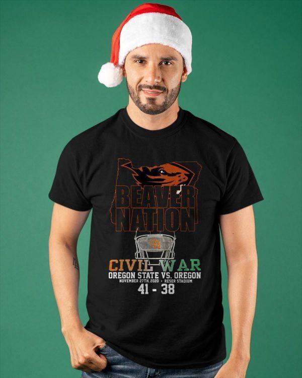 Beaver Nation Civil War Oregon State Vs Oregon Shirt