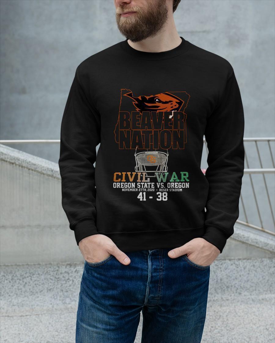 Beaver Nation Civil War Oregon State Vs Oregon Sweater