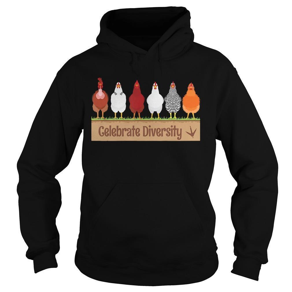 Chicken Celebrate Diversity Hoodie