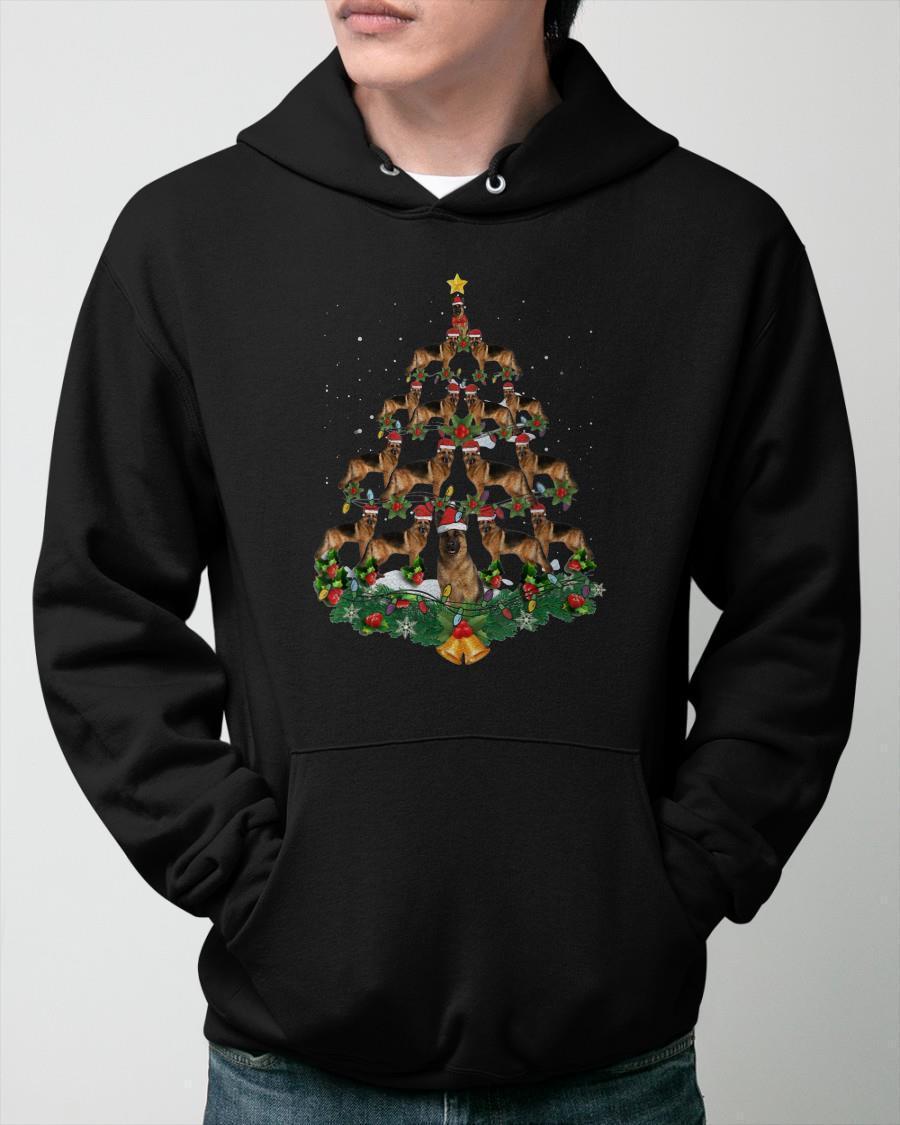 Christmas German Shepherd Tree Hoodie
