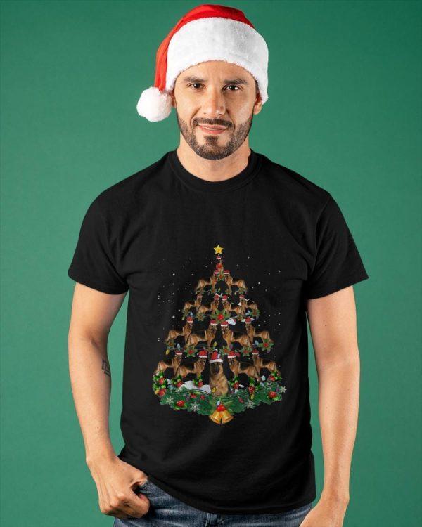 Christmas German Shepherd Tree Shirt