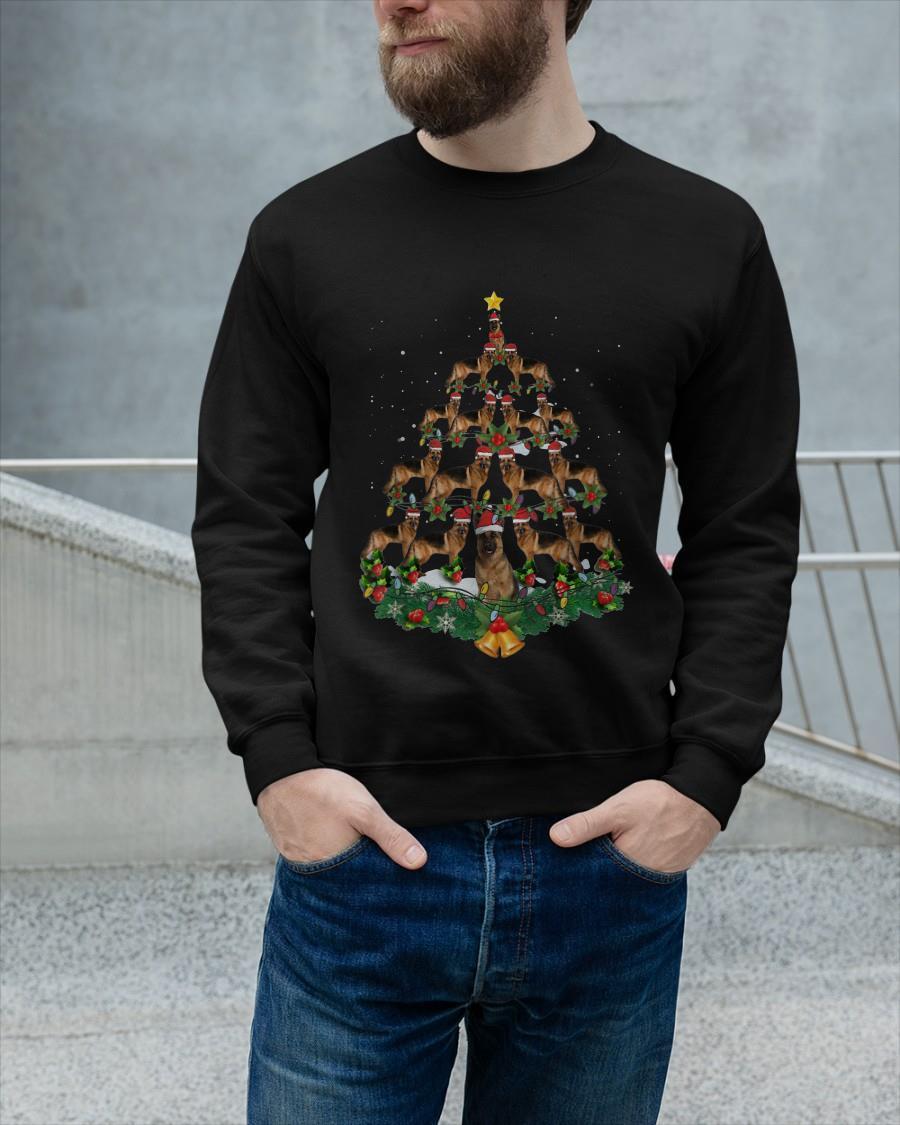 Christmas German Shepherd Tree Tank Top