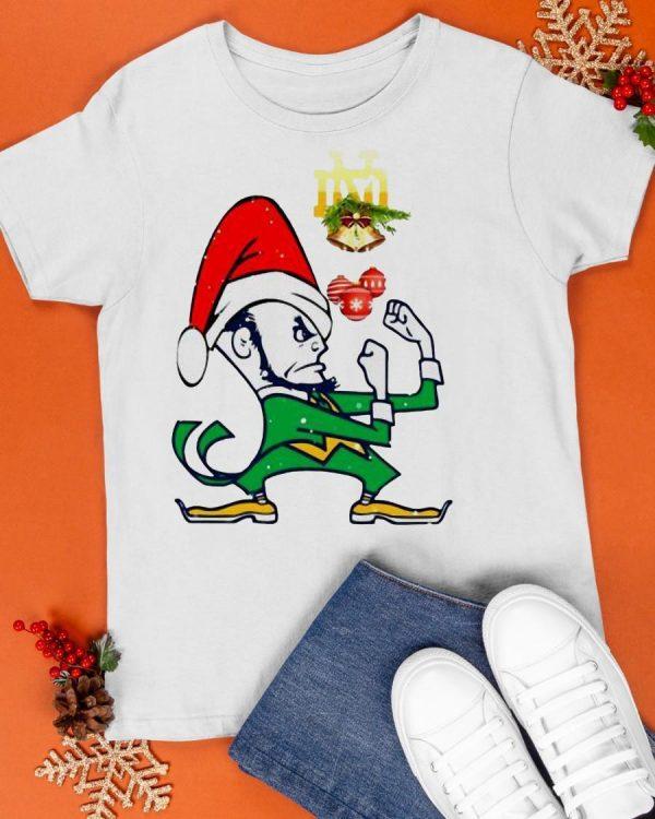 Christmas Notre Dames Fighting Irish Santa Shirt