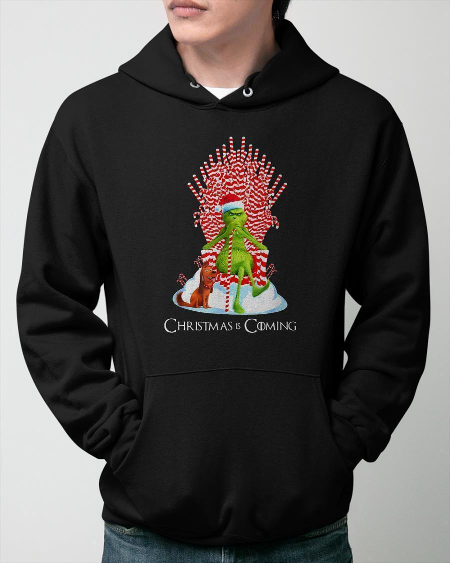 Grinch Candy Throne Christmas Is Coming Hoodie