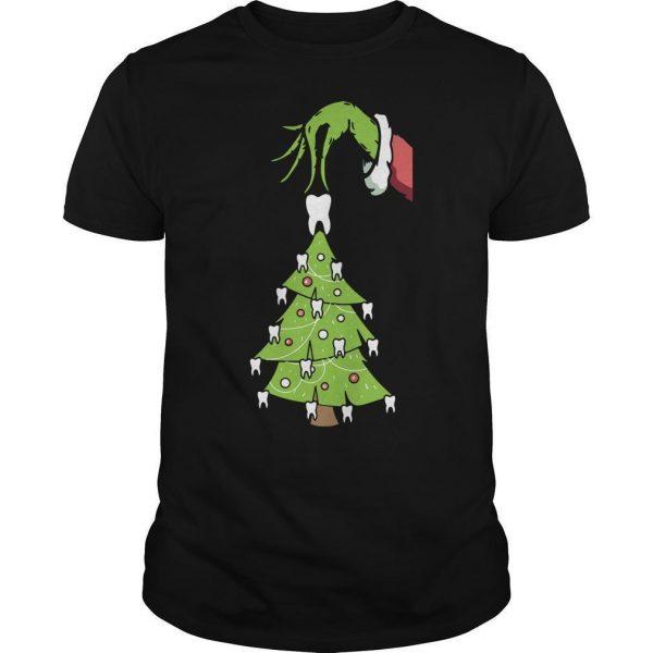 Grinch Christmas Teeth Tree Shirt