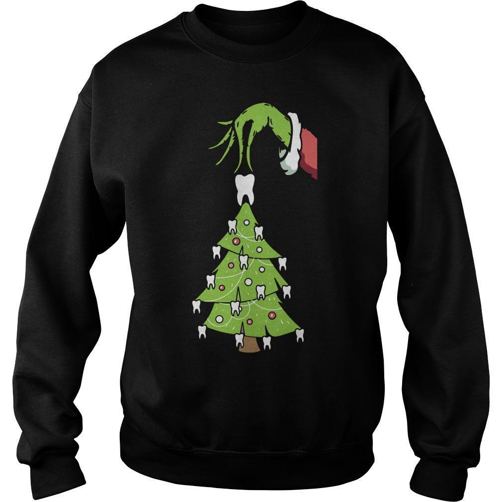 Grinch Christmas Teeth Tree Sweater