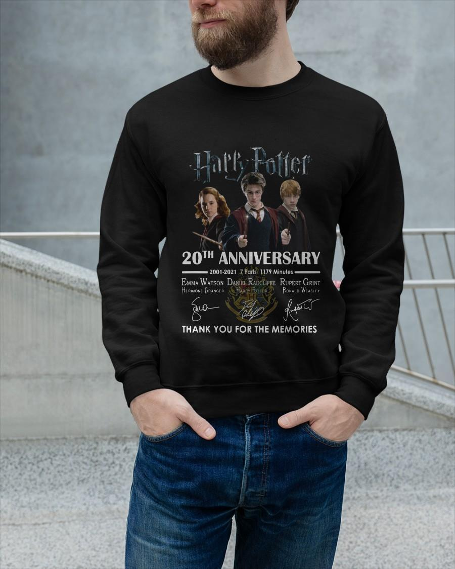 Harry Potter 20th Anniversary Thank You For The Memories Longsleeve