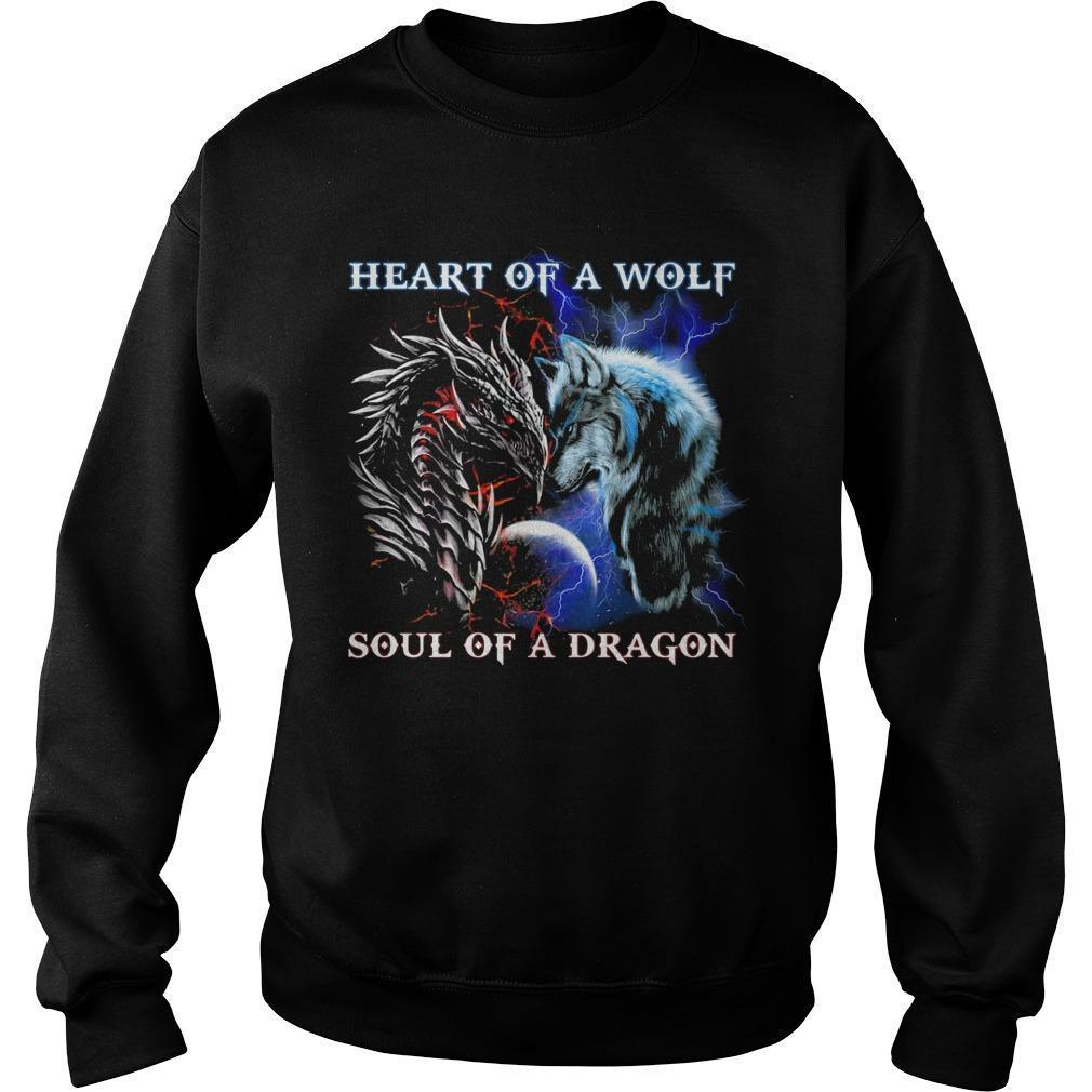 Heart Of A Wolf Soul Of A Dragon Sweater