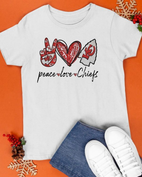 Kansas Peace Love Chiefs Shirt