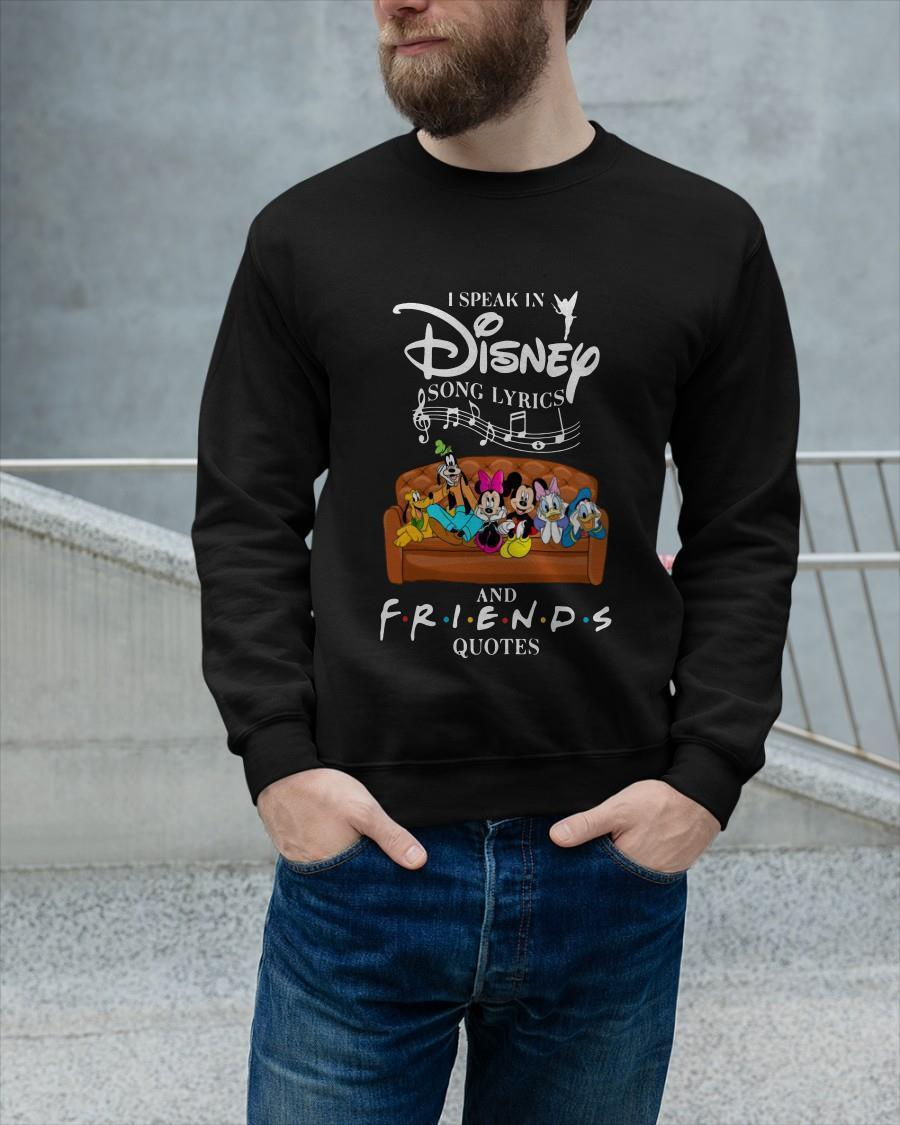 Mickey I Speak In Disney Song Lyrics And Friends Quotes Longsleeve