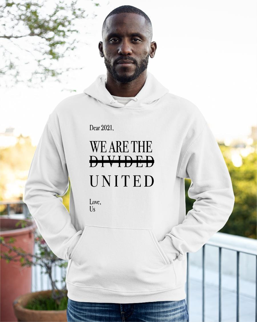 Minnesotan Dear 2021 We Are The Divided United Love Us Hoodie