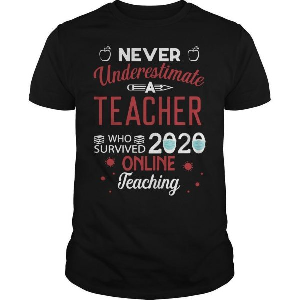 Never Underestimate A Teacher Who Survived 2020 Online Teaching Shirt