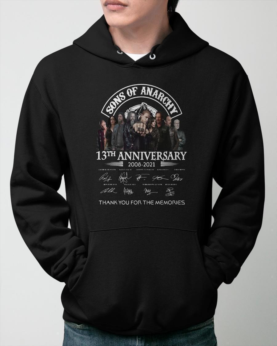 Sons Of Anarchy 13th Anniversary Thank You For The Memories Hoodie
