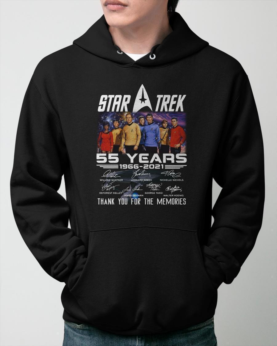 Star Trek 55 Years 1966 2021 Thank You For The Memories Hoodie