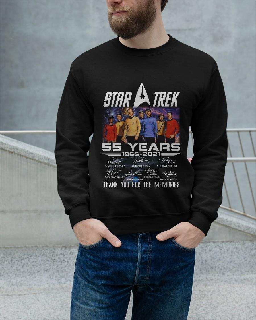 Star Trek 55 Years 1966 2021 Thank You For The Memories Sweater
