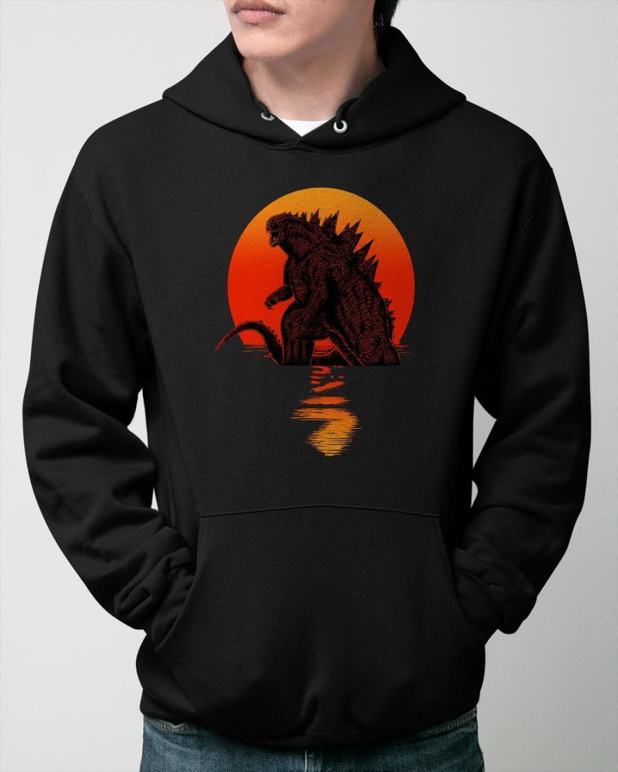Sunset The Godzilla Hoodie