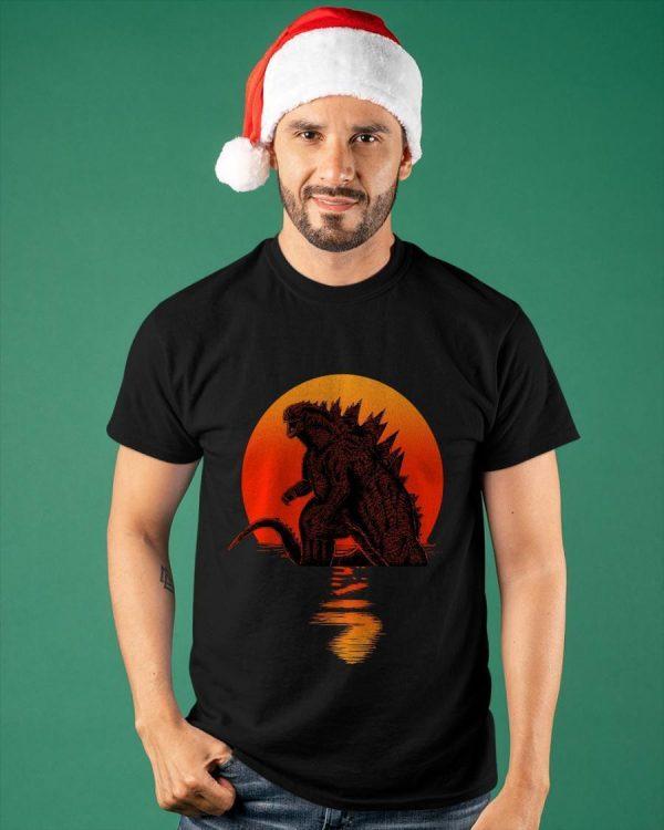 Sunset The Godzilla Shirt